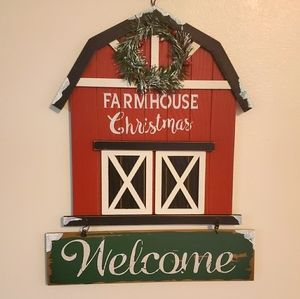 2/$32 Farmhouse Christmas Distressed Welcome Sign